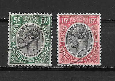 KENYA , UGANDA ,TANGANYIKA , GEORGE V, 1927/31 , SET OF 2 , PERF, USED