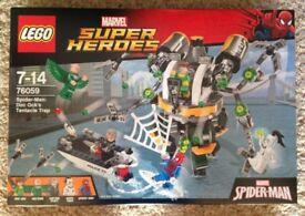 Lego Superheroes Spiderman Doc Ock Tentacle Trap New