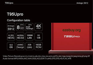 T95Upro Android TV Media Box with S912chipset 2gb/16gb Cambridge Kitchener Area image 2