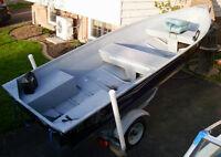 G3 14' Boat & Trailer with Mercury 20HP 4 Stroke