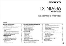 Onkyo Integra TX-NR636 Advanced Receiver Owners