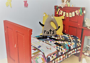 TODDLER BED, SOLID WOOD, HAND CRAFTED