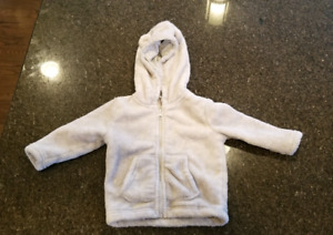 Fleece coat    6 to 12m