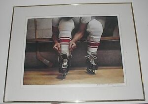 Lacing Up by Ken Danby - signed Sarnia Sarnia Area image 3