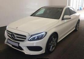 2015 WHITE MERCEDES C250 BLUETEC AMG LINE PREMIUM PLUS CAR FINANCE FROM 75 P/W