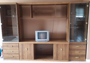 FREE Wall Unit TV Stand - 4 piece with lights