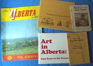 5 COLLECTABLE SOFT COVER BOOKLETS ABOUT ALBERTA