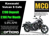 KAWASAKI VULCAN S CAFE 2018 MODEL PEARL STORM GREY
