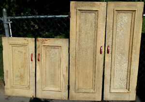 100yr old Antique Rustic Country Farm Wooden Cupboard Doors