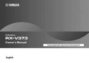 Yamaha rx v373 car interior design for Yamaha rx v473 manual