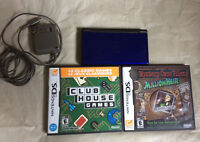Blue Nintendo DS w/ 2 Games & Charger