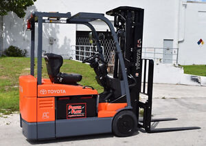 FORKLIFTS ELECTRIC 100 to choose from (Toyota,Raymond,Crown,Etc.