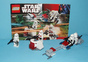 LEGO STAR WARS no 7655, le CLONE TROOPERS BATTLE PACK