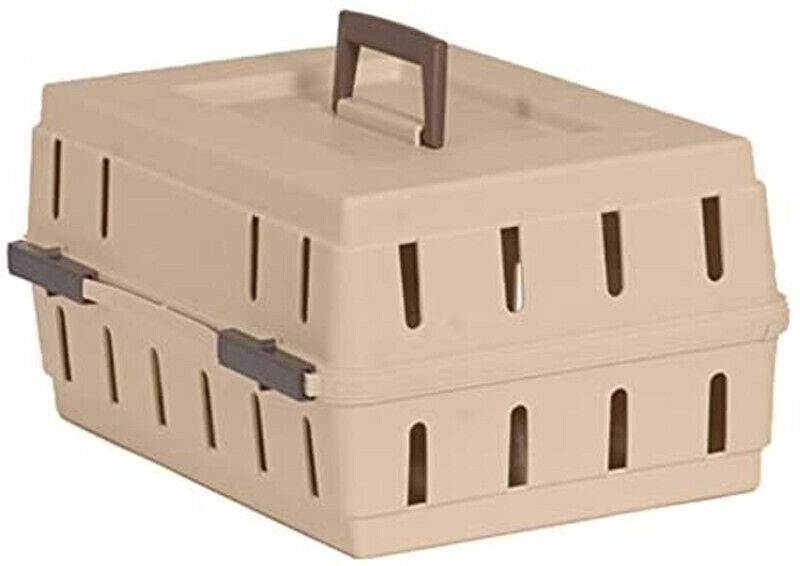 """Doskocil Cabin Kennel Solid Top Carrier Crate For Dog Bird Cat 16"""" x 12"""" x 8"""""""