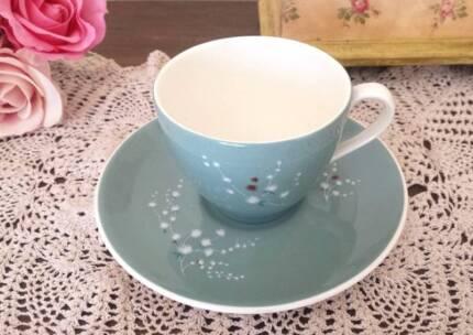 "Vintage Royal Doulton ""Spindrift"" teacup and saucer set"