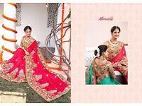 Monalisa Heavy Work Wedding Wear Saree