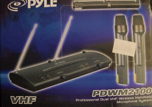2 Pyle VHF remote wireless systems for sale
