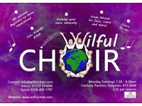 Community choir... do you love singing? Free taster session. Located near kingston riverside
