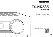 Onkyo Integra TX-NR535 Basic Receiver Owners Instruction