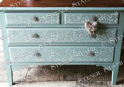 Lace Flower Pattern STENCIL A4 LFRP Vintage French, Furniture QUALITY 250 MYLAR
