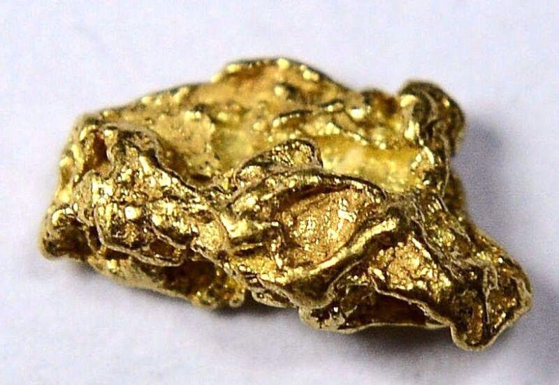 Alaskan-Yukon BC Gold Rush Natural Gold Nugget 0.32 Grams Genuine