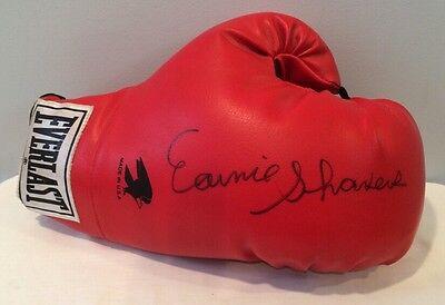 Autograph Signed Boxing Glove Earnie Dee Shaver aka Earnie Shavers Rare Crisp