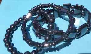 3 hematite bracelets Echuca Campaspe Area Preview