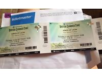 KINGS OF LEON TICKETS x2 for British Summer Time @ Hyde Park on July 6th