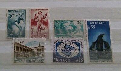 6 Briefmarken Monaco postfrisch