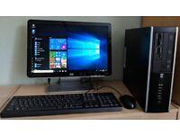 HP Windows 10 Pro Slim PC Computer/WIFI/2GB RAM/500GB/Widescreen Monitor