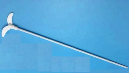 500mm PTFE Mixer Stirrer Shaft w/Foldable Paddle Blade (100mm) Stirring Rod