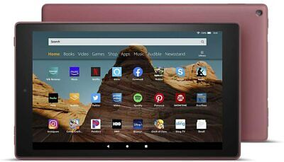 "NEW Amazon Fire HD 10 Tablet 10.1"" Display 32 GB (9th Generation) - PLUM"