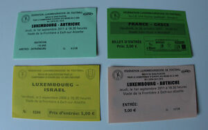 FOUR Tickets for collectors France Greece Austria Luxembourg Israel Youth games - <span itemprop='availableAtOrFrom'>Internet, Polska</span> - FOUR Tickets for collectors France Greece Austria Luxembourg Israel Youth games - Internet, Polska