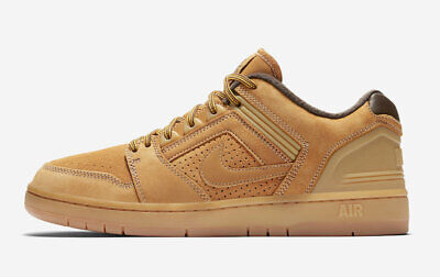 Nike SB Air Force II Low PRM AV3801-772 Wheat Bronze Brown Skateboarding Shoes - Mens Force Brown Leather