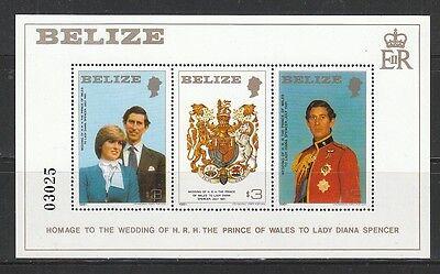 443) Lady Diana u.Prinz Charles: Belize Block 32 **! 2 Scans!
