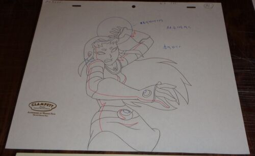 The Teen Titans Animated Series Production Drawing Starfire 3755!