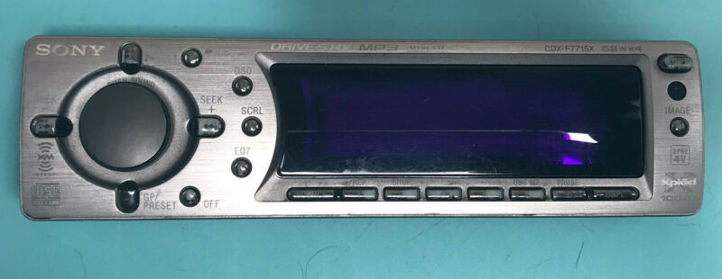 Sony CDX-F7715X Faceplate Only Tested
