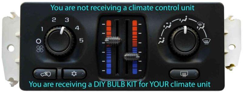 climate control - BULB KIT for 2003-2006 Chevy Silverado, Sierra Manual Slider Climate Controls