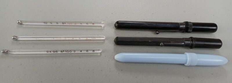 Vintage Lot Of 3 Medical Thermometers