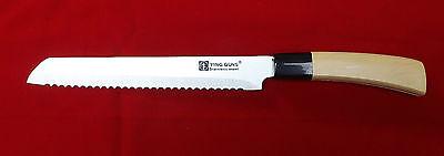 Bread Slice Knife Cake Pie Slicer Cutter Chef Kitchen Steel Blade cook Cutlery