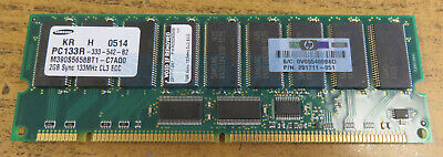 133mhz Ecc Registered 168 Pin (HP Samsung 2GB PC133 133MHz 168-Pin ECC Registered Server Memory 291711-051 )