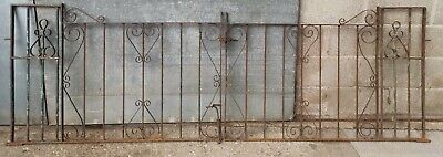 Heavyweight Reclained Scrolled Fleur-de-lis Metal Driveway Gates - 9' x 3'