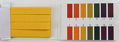1 Pack 80 Strips Of 1-14 Ph Test Indicator Paper Lab Water Soil Body Aquarium