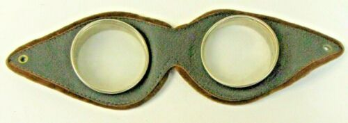 antique vintage leather MOTORCYCLE GOGGLES aviation car ORIGINAL steampunk  *