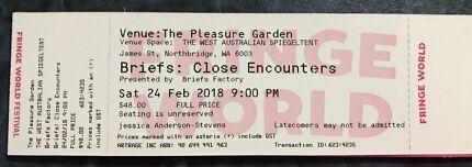 """Fringe World Tickets for """"Briefs"""""""