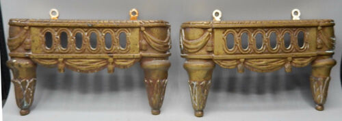 Pair of Fancy Antique Fireplace Butler