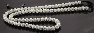 32-inches-Long-Shamballa-necklace-80-beads-10mm-white-crystal-beads