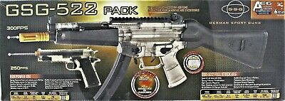 GSG 522 AEG Powered Electric Air Soft Gun Rifle & Firepower 1911 Pistol Pack New