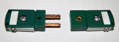 Omega Mini Rs Type Thermocouple Pt Rh- Male Female Connector Plug Ii Cp Pin