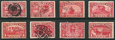 USA PARCEL POST 8 STAMPS REVENUES